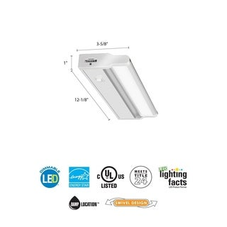 Lithonia Lighting White Aluminum/Acrylic 12-inch LED Cabinet Light