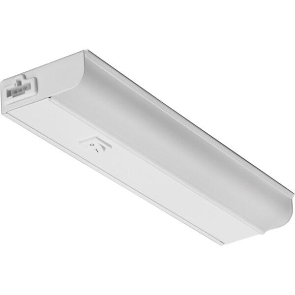 Led 15 Watt 12 Inch Linkable Undercabinet Strip Light: Lithonia Lighting White Steel/Acrylic LED Linkable Cabinet