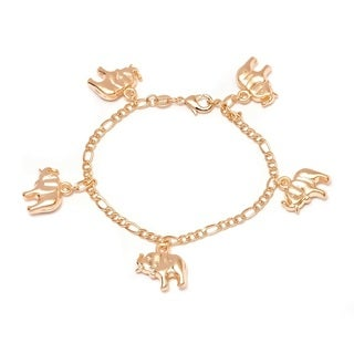 Peermont Jewelry Goldplated Elephant Charm Bracelet
