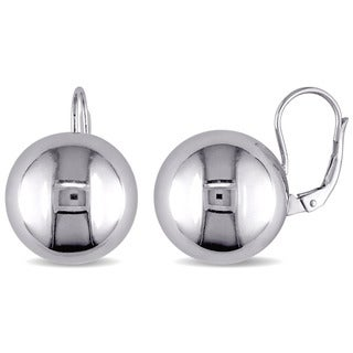 Large Ball Leverback Earrings in Italian Sterling Silver by Miadora