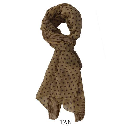 Peach Couture Polka Dot Sheer Scarf