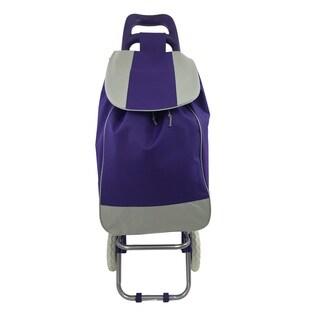 Wee's Beyond Purple Fabric/Plastic Folding Shopping Cart