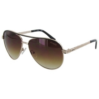 Guess Womens GF0268 Wire Rim Aviator Fashion Sunglasses
