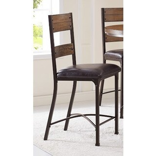 Bernards Stockton Brown Oak/Metal Pub Chairs