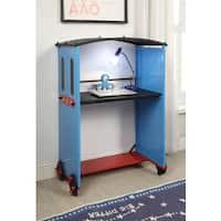 Tobi Blue Metal/MDF/PVC Train-theme Desk