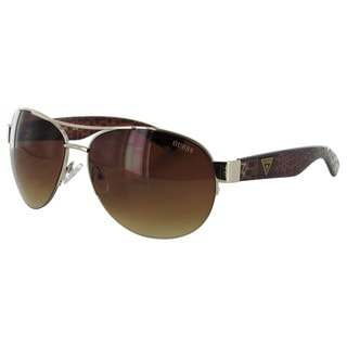 Guess Womens GF0288 Semi Rimless Wire Frame Fashion Sunglasses