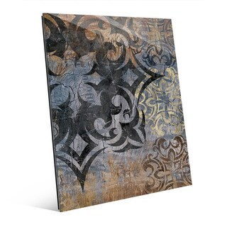 'Grunge Snowflake' Multicolored Acrylic Wall Art