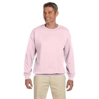 50/50 Super Sweats Nublend Fleece Men's Crew-Neck Classic Pink Sweater