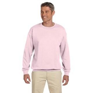 50/50 Super Sweats Nublend Fleece Men's Crew-Neck Classic Pink Sweater