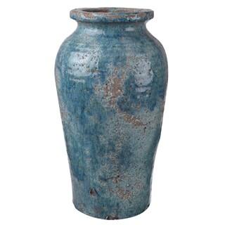 Blue Clay 8-inch Diameter x 14.5-inch High Vase