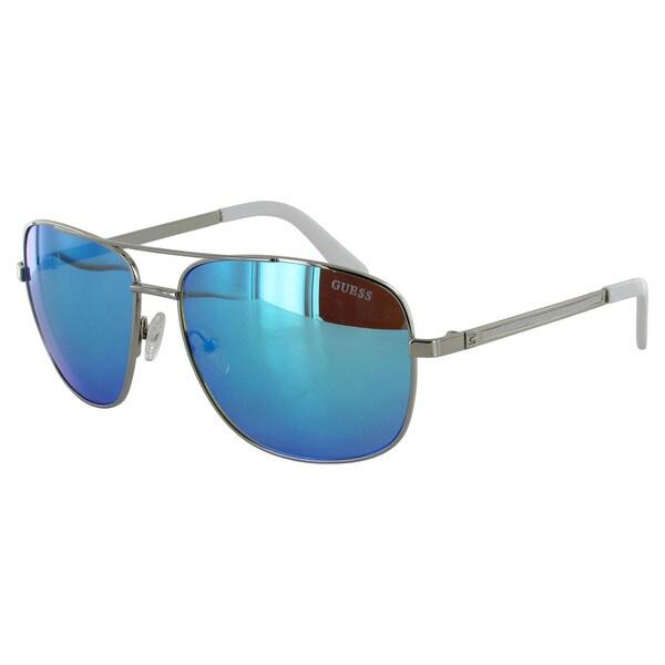 Shop Guess Mens GF0167 Aviator Wire Frame Fashion Sunglasses - Free ...