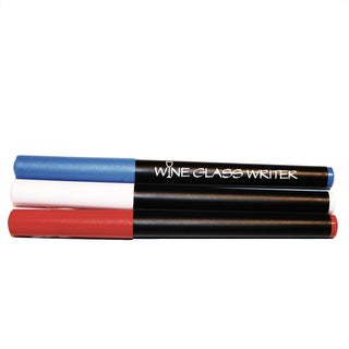 Cork Pops Red, White, & Blue Wine Glass Writer Pens