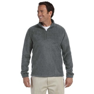 Quarter-Zip Men's Fleece Pullover Charcoal Sweater