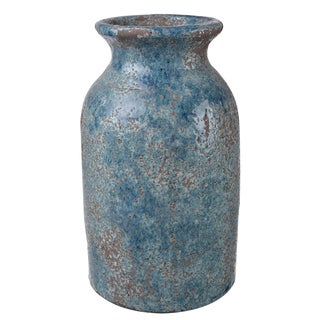 Blue Clay 10-inch x 6-inch Diameter Vase