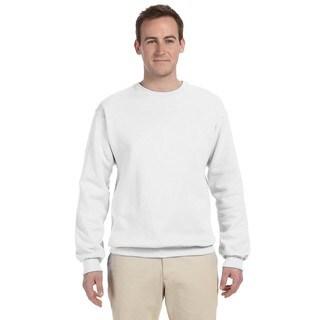 50/50 Nublend Fleece Men's Crew-Neck White Sweater