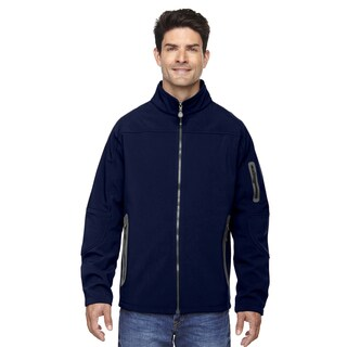 Three-Layer Fleece Bonded Soft Shell Technical Men's Big and Tall Classic Navy 849 Jacket