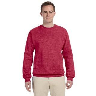 50/50 Nublend Fleece Men's Crew-Neck Vintage Heather Red Sweater