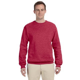50/50 Nublend Fleece Men's Crew-Neck Vintage Heather Red Sweater (4 options available)