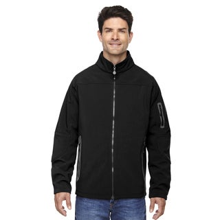 Three-Layer Fleece Bonded Soft Shell Technical Men's Big and Tall Black 703 Jacket