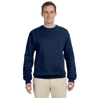 50/50 Nublend Fleece Men's Crew-Neck Vintage Heather Navy Sweater