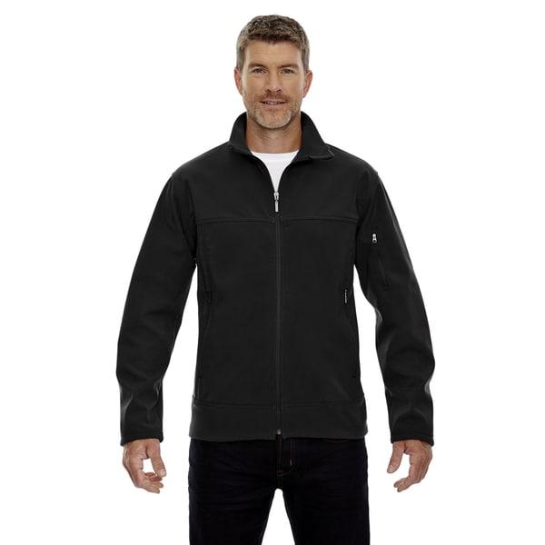 Three-Layer Fleece Bonded Mens Performance Soft Shell Mens Black 703 Jacket