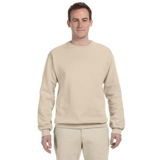 50/50 Nublend Fleece Men's Crew-Neck Sandstone Sweater