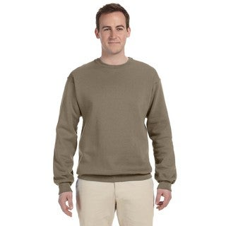 50/50 Nublend Fleece Men's Crew-Neck Safari Sweater
