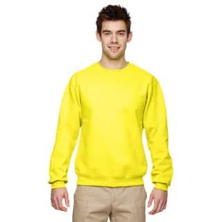 50/50 Nublend Fleece Men's Crew-Neck Neon Yellow Sweater
