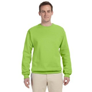 50/50 Nublend Fleece Men's Crew-Neck Neon Green Sweater