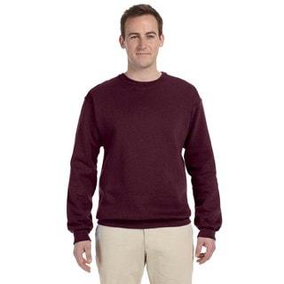 50/50 Nublend Fleece Men's Crew-Neck Maroon Sweater