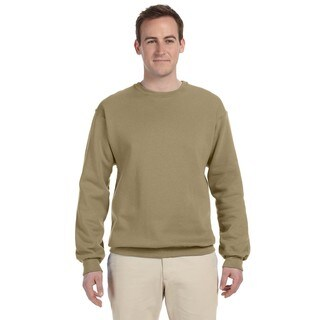 50/50 Nublend Fleece Men's Crew-Neck Khaki Sweater
