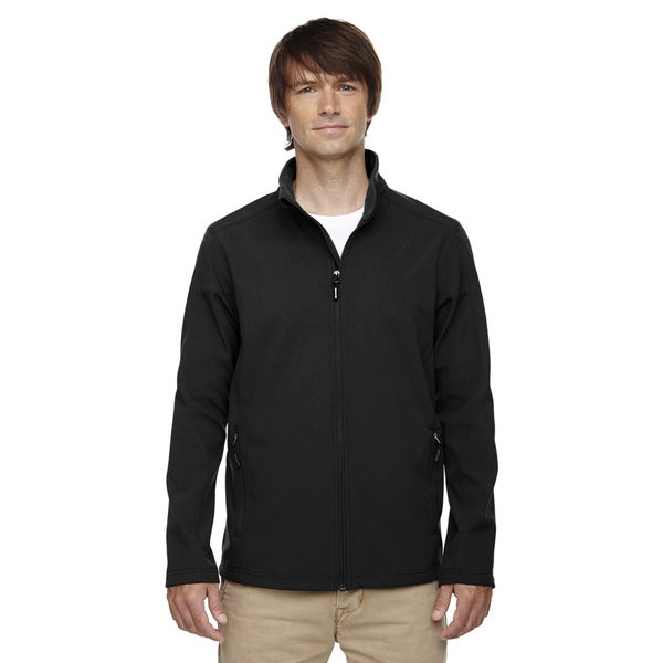 Tall Cruise Two-Layer Fleece Bonded Soft Shell Mens Big and Tall Black 703 Jacket