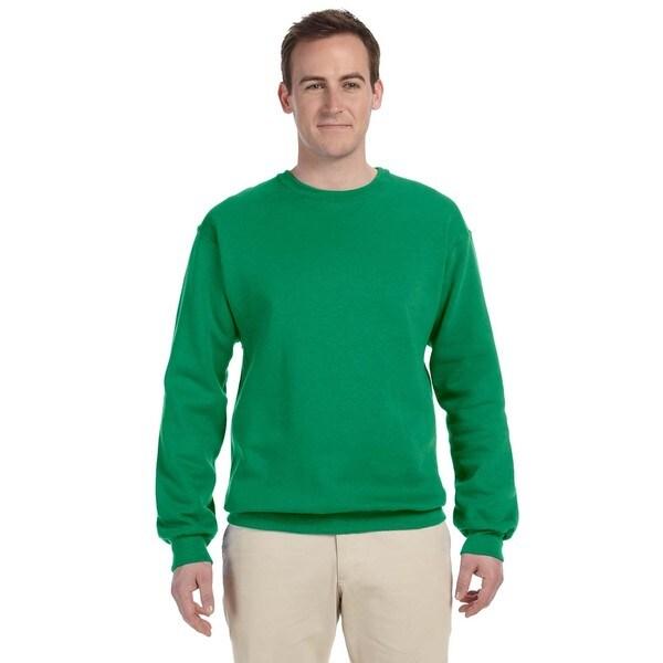50/50 Nublend Fleece Mens Crew-Neck Kelly Sweater by  2020 Sale