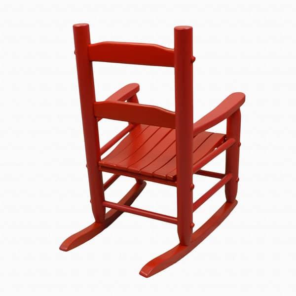 Groovy Big Kids Red Rocking Chair Machost Co Dining Chair Design Ideas Machostcouk