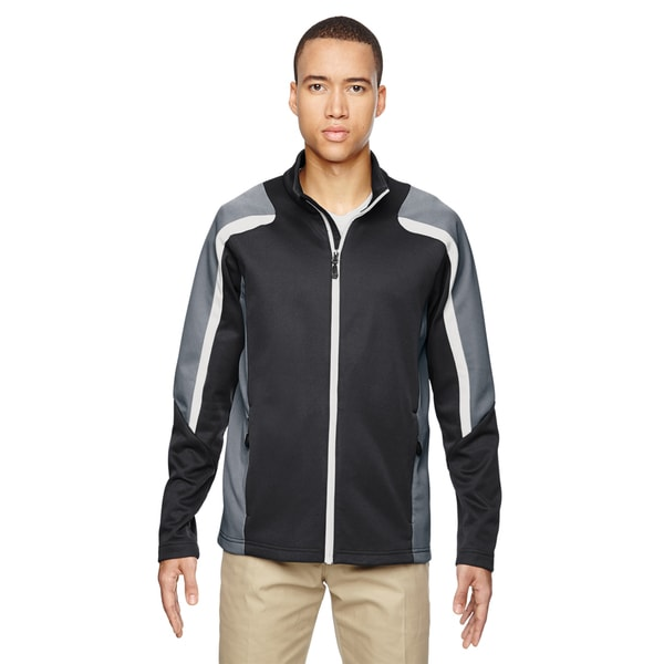 d63cf12e8b72 Shop Strike Colorblock Fleece Men s Big and Tall Carbon 456 Jacket - Free  Shipping Today - Overstock.com - 12555646