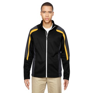 Strike Colorblock Fleece Men's Big and Tall Black/Campus Gold 464 Jacket