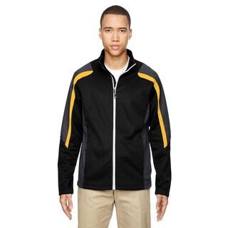 Strike Colorblock Fleece Men's Big and Tall Black/Campus Gold 464 Jacket