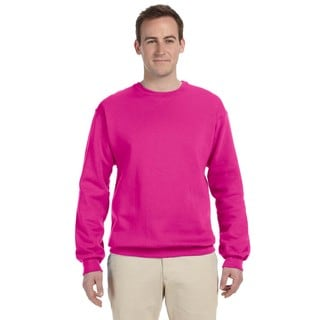 50/50 Nublend Fleece Men's Crew-Neck Cyber Pink Sweater