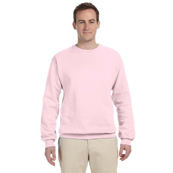 Shop 50 50 Nublend Fleece Men s Crew-Neck Classic Pink Sweater - On Sale -  Free Shipping On Orders Over  45 - Overstock - 12555666 7ba7d3a01