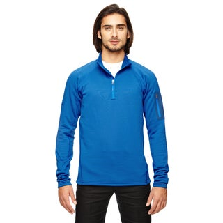 Stretch Men's Big and Tall Fleece Blue Sapphire Half-Zip