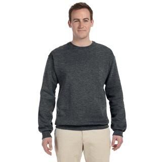 50/50 Nublend Fleece Men's Crew-Neck Charcoal Grey Sweater