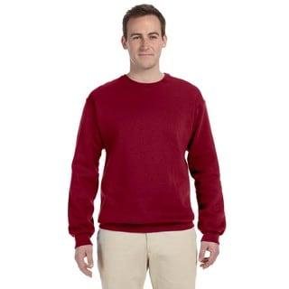 50/50 Nublend Fleece Men's Crew-Neck Cardinal Sweater