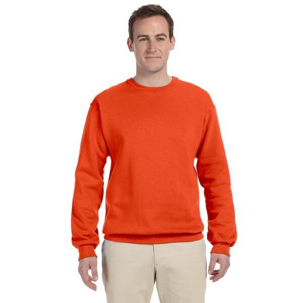 Shop 5050 Nublend Fleece Mens Crew Neck Burnt Orange Sweater