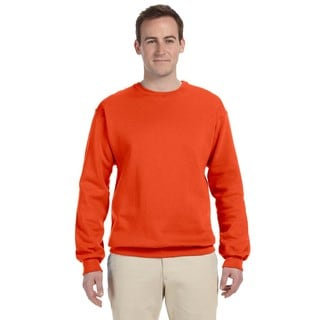50/50 Nublend Fleece Men's Crew-Neck Burnt Orange Sweater