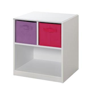 White MDF Kids 2-drawer Nightstand