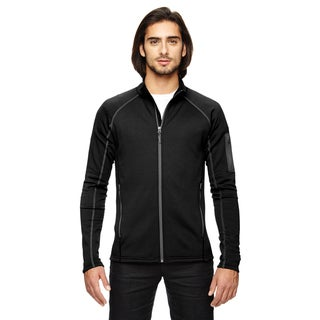 Stretch Fleece Men's Big and Tall Black Jacket