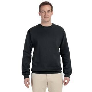 50/50 Nublend Fleece Men's Crew-Neck Black Sweater