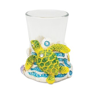 Puzzled Sea Turtle Stone Shot Glass