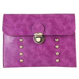 Diophy Faux Leather PU Leather Fashion Envelope Clutch