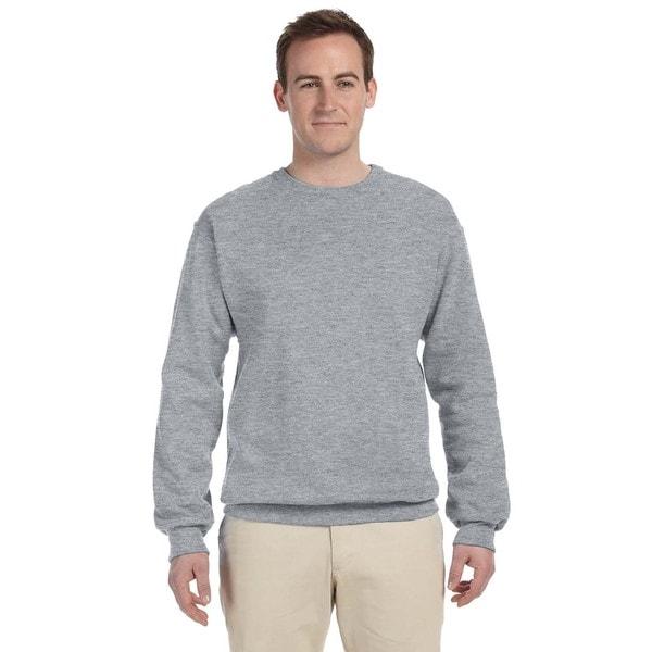 50/50 Nublend Fleece Mens Crew-Neck Athletic Heather Sweater